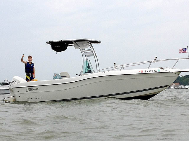 1998 Seaswirl Striper 21' with SG300 Review | Stryker T-tops, Universal Fishing T-tops for ...