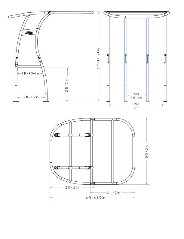 Stryker SG300 dimensions