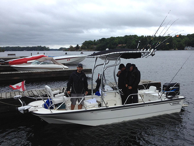 2004 Boston Whaler Montauk 170 with SG600 Review | Stryker T-tops, Universal Fishing T-tops for ...