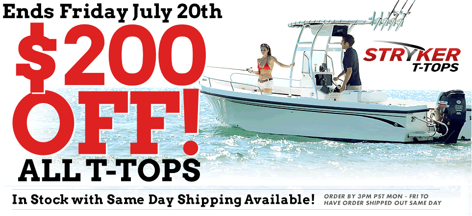 Boat t-top sale at Stryker