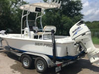 2016 Sea Pro 208 Bay  with SG600 T-Top
