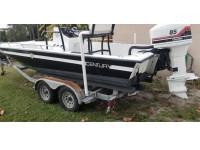 1996 Century 2130 Bay Boat T-Top in Black Finish