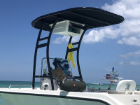 2005 Trophy 1703 boat t-top and electronics box